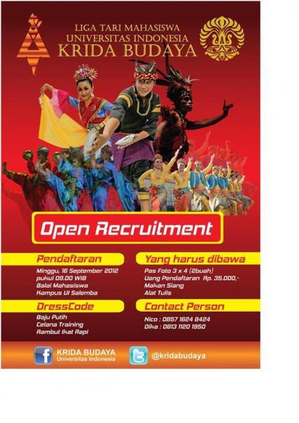 369 Open Recruitment Liga Tari Mahasiswa Ui Krida Budaya Ppid Ui